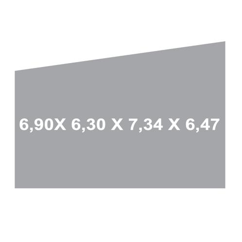 toldos vela 6.9 x 6.3 x 7.3 x 6.47 gris claro