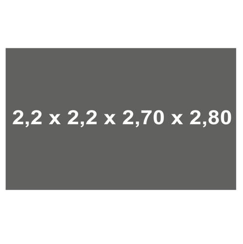 toldos vela 2.2x2.2x2.7x2.8 outlet solarsol